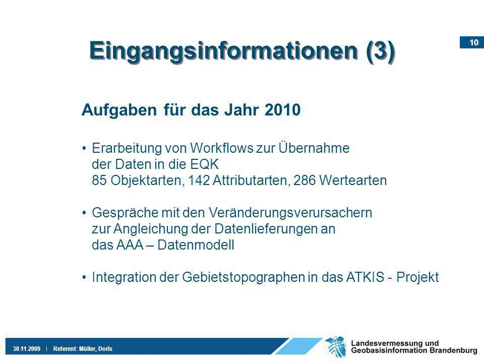 Eingangsinformationen (3)
