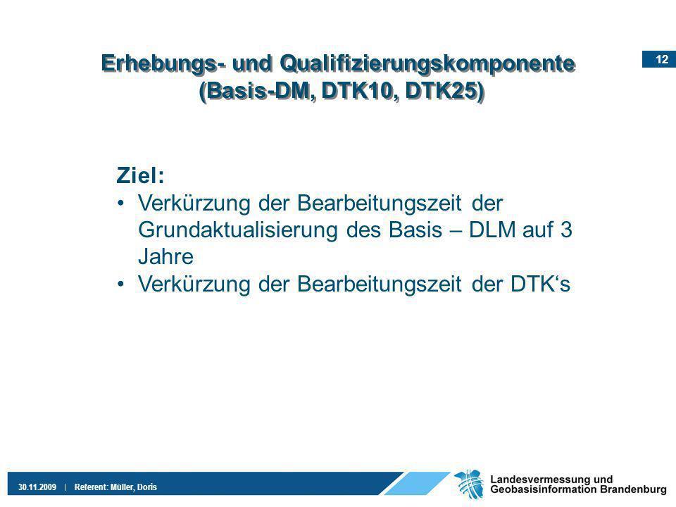 Erhebungs- und Qualifizierungskomponente (Basis-DM, DTK10, DTK25)