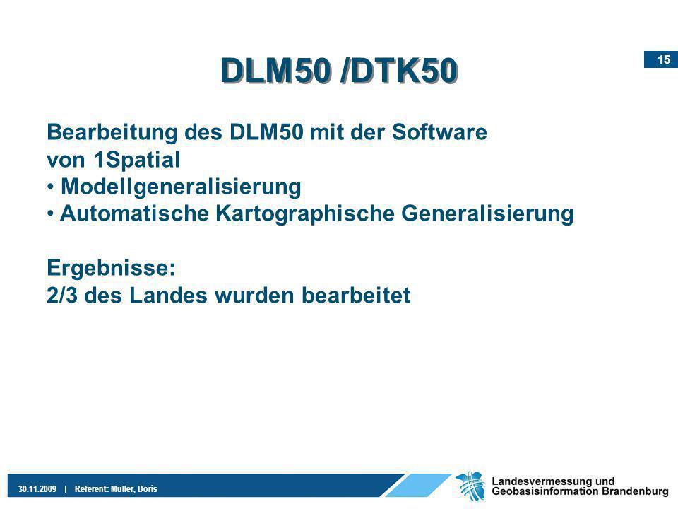 DLM50 /DTK50 Bearbeitung des DLM50 mit der Software von 1Spatial
