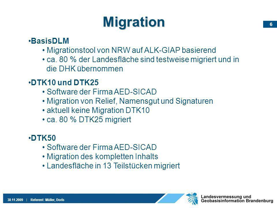 Migration BasisDLM Migrationstool von NRW auf ALK-GIAP basierend