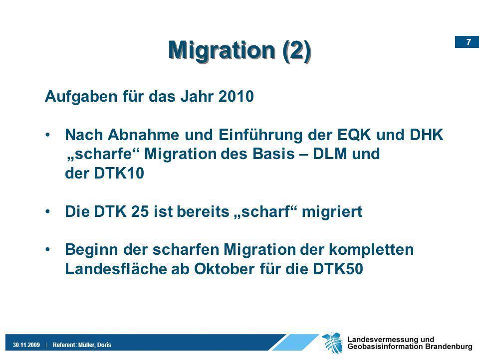 Migration (2) Aufgaben für das Jahr 2010