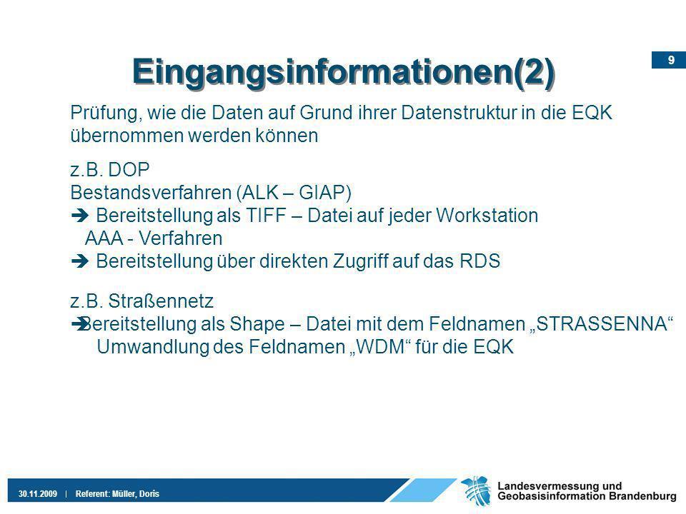 Eingangsinformationen(2)