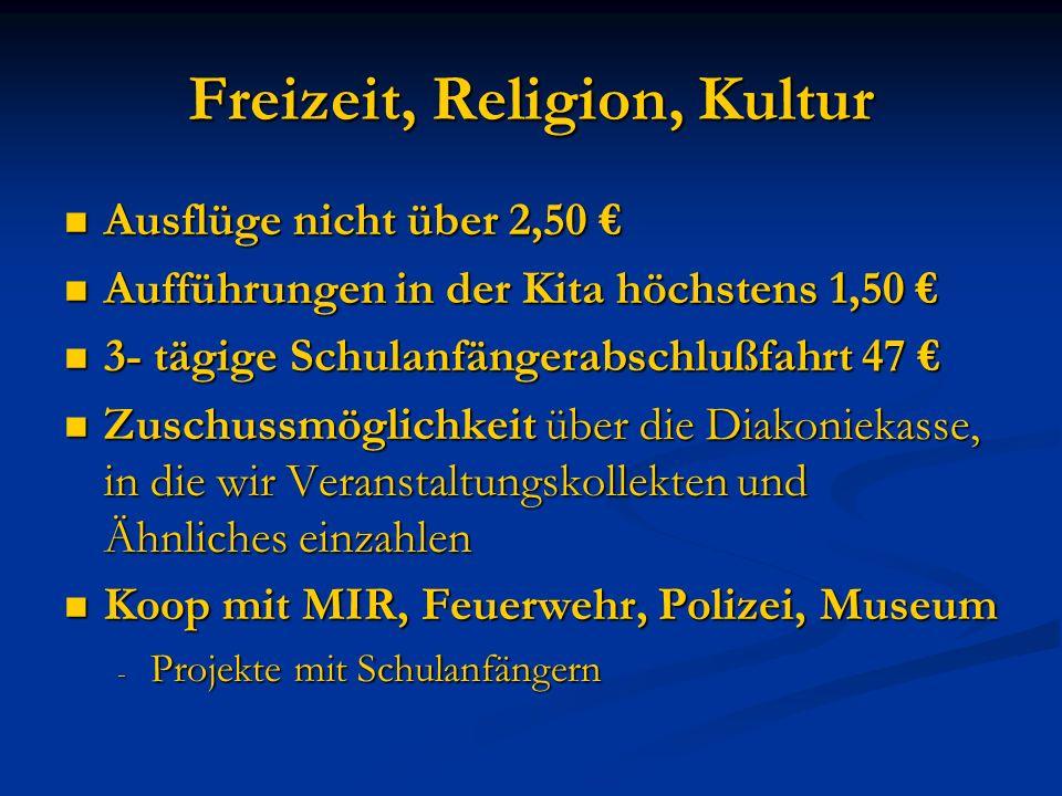 Freizeit, Religion, Kultur