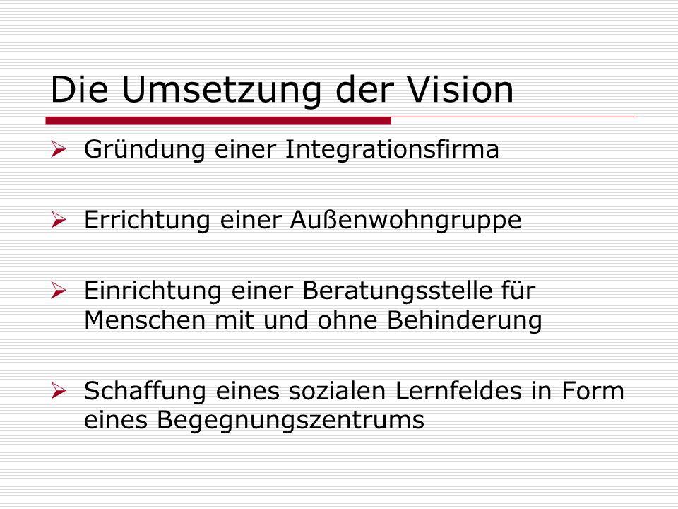 Die Umsetzung der Vision