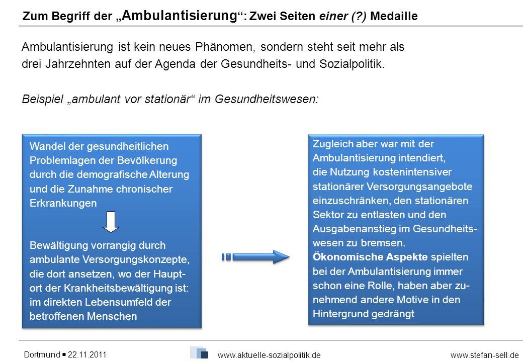 """Zum Begriff der """"Ambulantisierung : Zwei Seiten einer ( ) Medaille"""