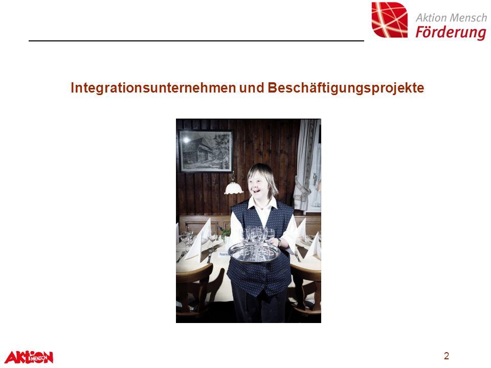 Integrationsunternehmen und Beschäftigungsprojekte