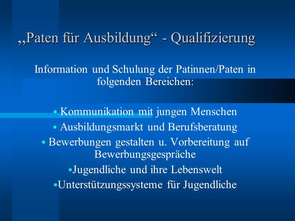 """""""Paten für Ausbildung - Qualifizierung"""