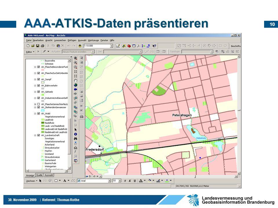 AAA-ATKIS-Daten präsentieren