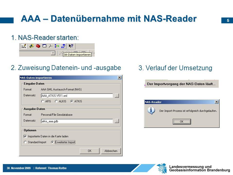 AAA – Datenübernahme mit NAS-Reader