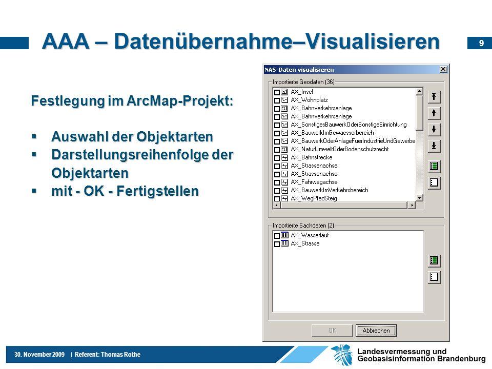 AAA – Datenübernahme–Visualisieren