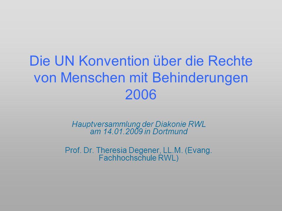 Die UN Konvention über die Rechte von Menschen mit Behinderungen 2006