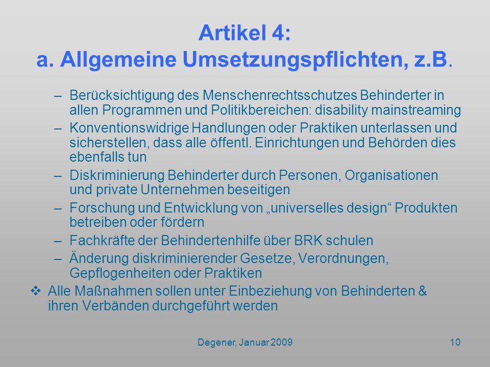 Artikel 4: a. Allgemeine Umsetzungspflichten, z.B.