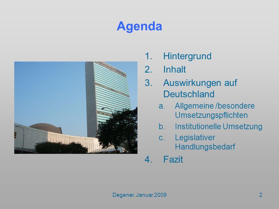 Agenda Hintergrund Inhalt Auswirkungen auf Deutschland Fazit