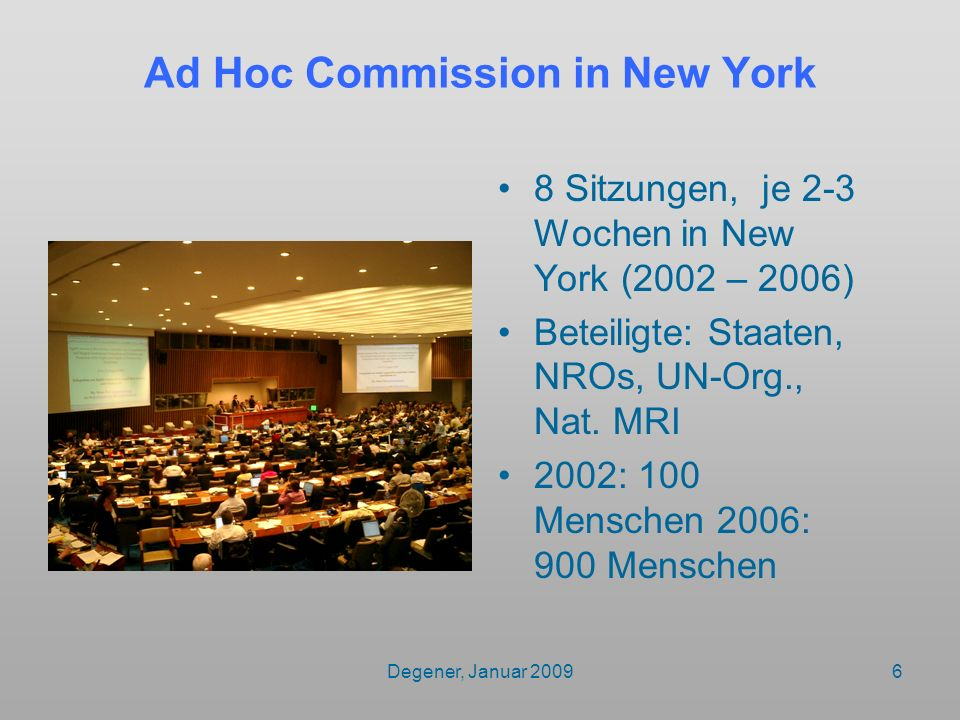 Ad Hoc Commission in New York