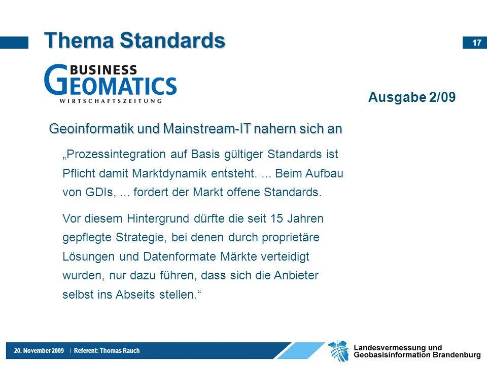 Thema Standards Ausgabe 2/09