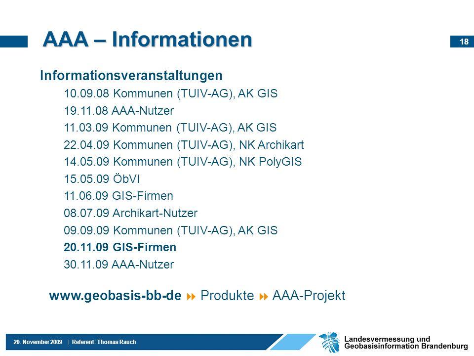 AAA – Informationen Informationsveranstaltungen