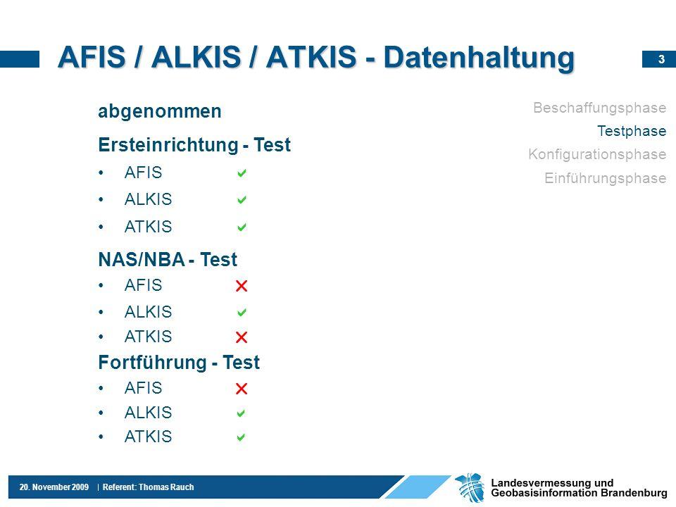 AFIS / ALKIS / ATKIS - Datenhaltung