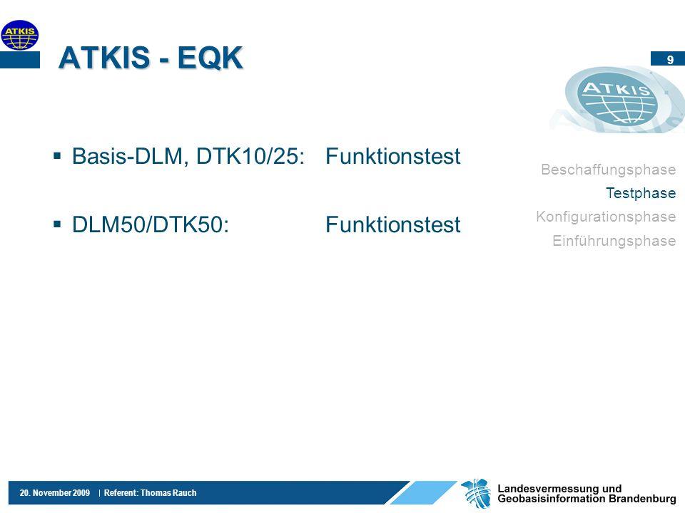 ATKIS - EQK Basis-DLM, DTK10/25: Funktionstest