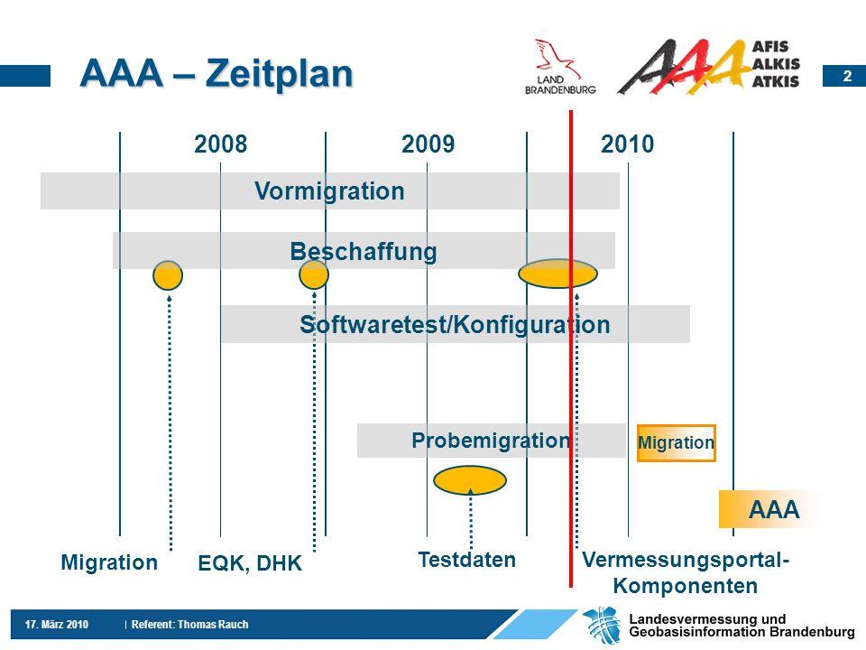 Softwaretest/Konfiguration Vermessungsportal-Komponenten