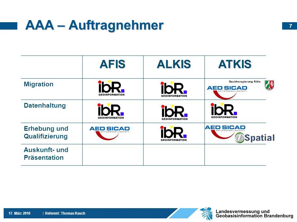 AAA – Auftragnehmer AFIS ALKIS ATKIS Migration Datenhaltung