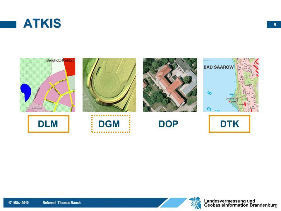 ATKIS DLM DGM DOP DTK