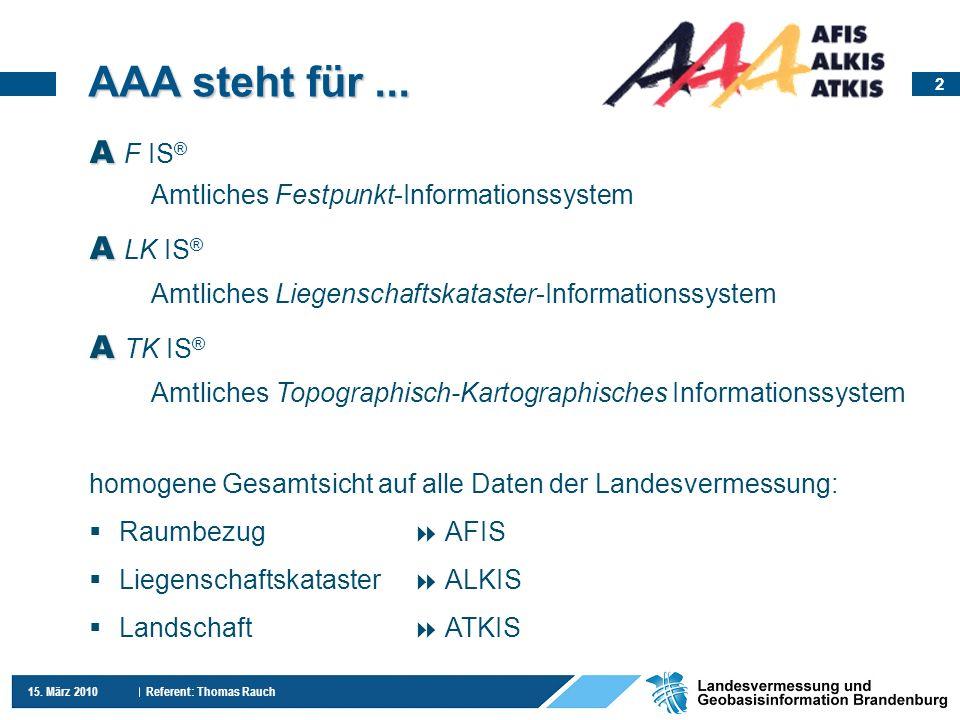 AAA steht für ... A F IS® A LK IS® A TK IS®