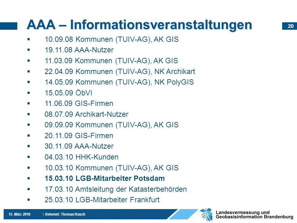 AAA – Informationsveranstaltungen