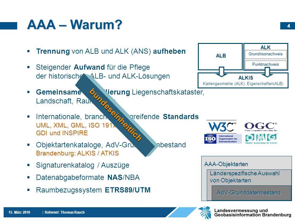 AAA – Warum bundeseinheitlich Trennung von ALB und ALK (ANS) aufheben