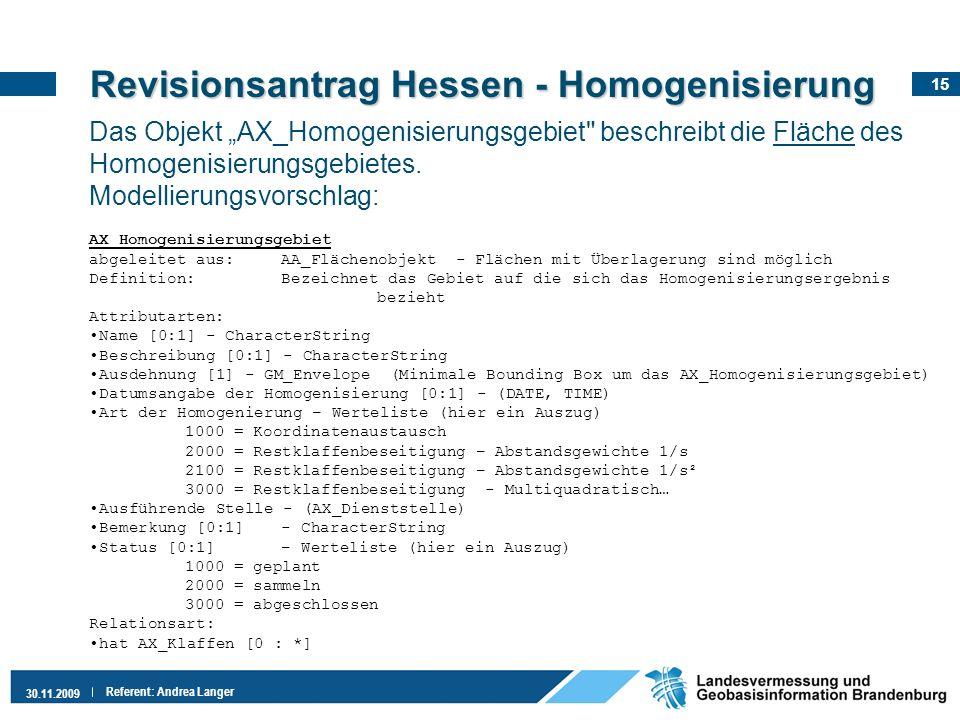 Revisionsantrag Hessen - Homogenisierung