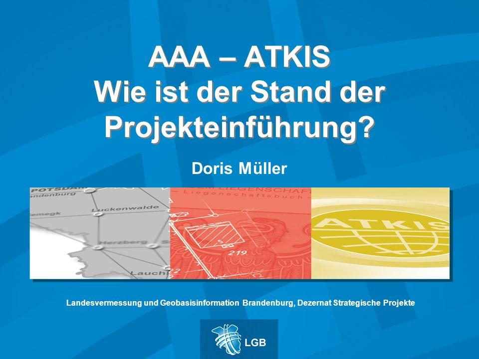 AAA – ATKIS Wie ist der Stand der Projekteinführung