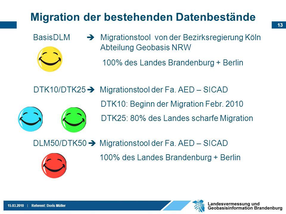 Migration der bestehenden Datenbestände