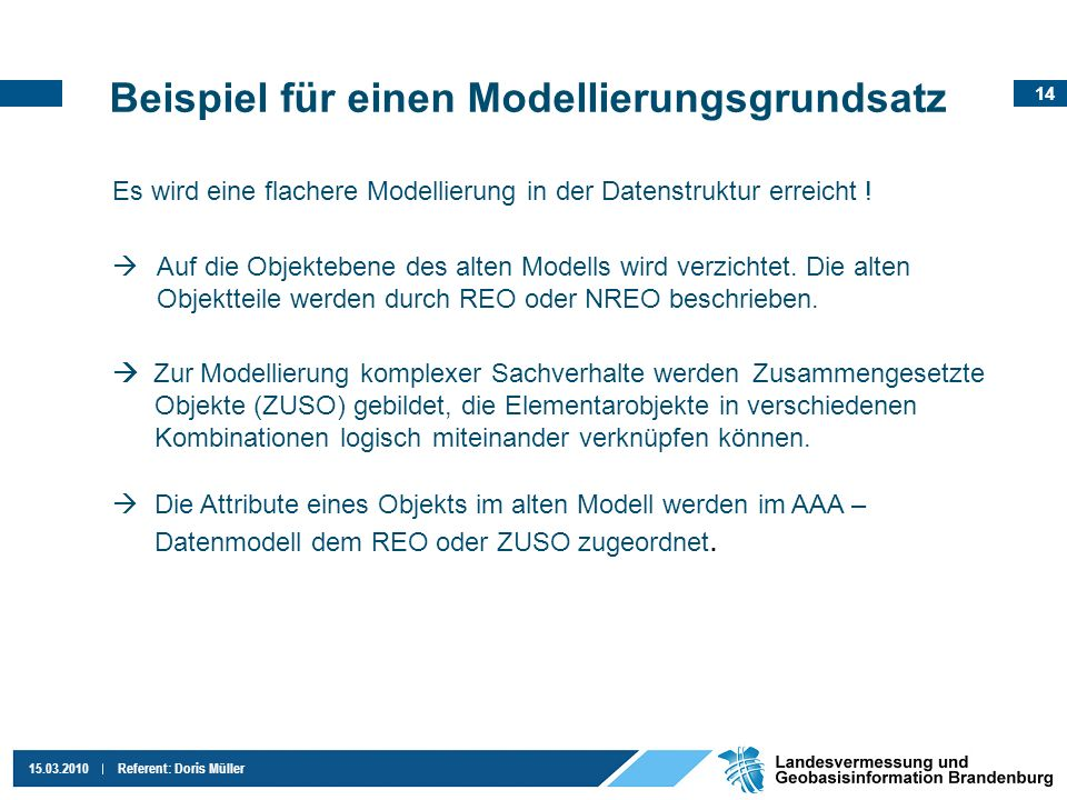 Beispiel für einen Modellierungsgrundsatz
