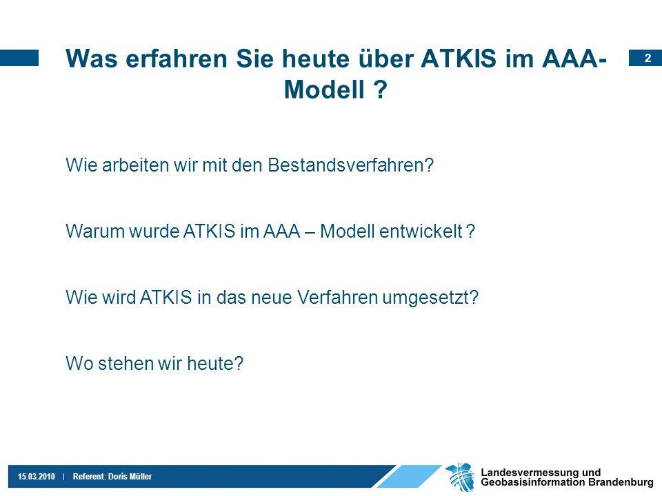 Was erfahren Sie heute über ATKIS im AAA-Modell