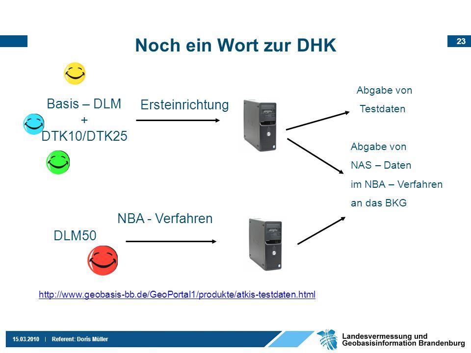 Noch ein Wort zur DHK Basis – DLM Ersteinrichtung + DTK10/DTK25