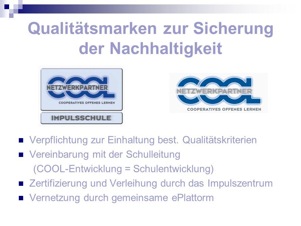 Qualitätsmarken zur Sicherung der Nachhaltigkeit