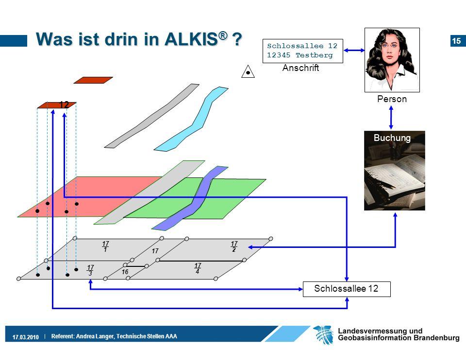 Was ist drin in ALKIS® Anschrift Person 12 Buchung Schlossallee 12