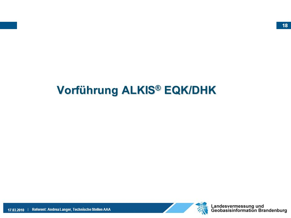 Vorführung ALKIS® EQK/DHK