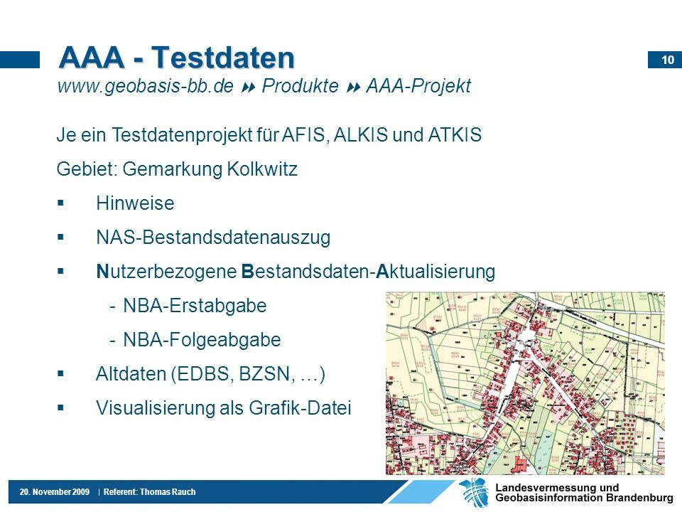 AAA - Testdaten www.geobasis-bb.de  Produkte  AAA-Projekt