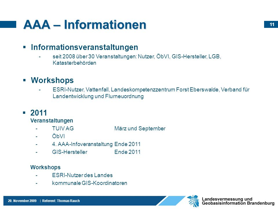 AAA – Informationen Informationsveranstaltungen Workshops