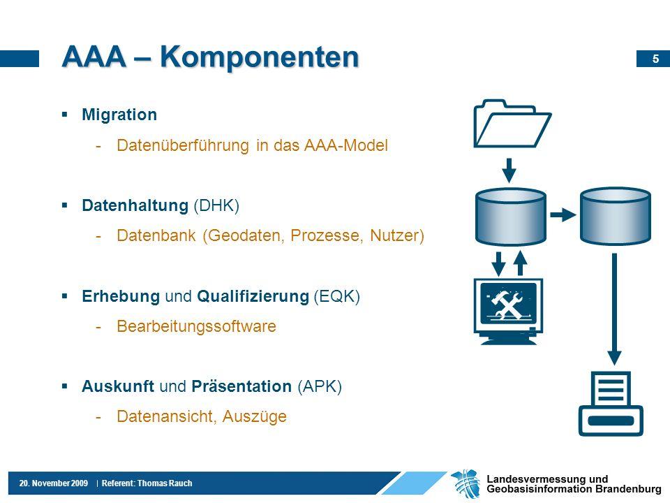     AAA – Komponenten Migration Datenüberführung in das AAA-Model