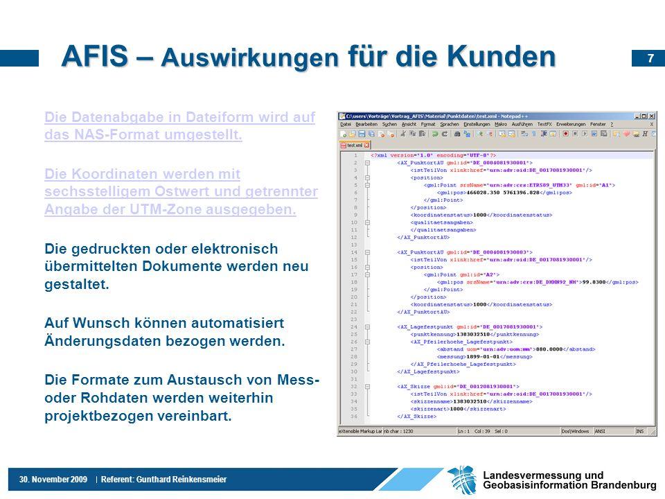 AFIS – Auswirkungen für die Kunden