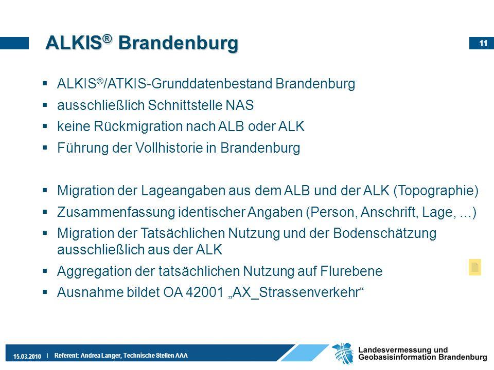 ALKIS® Brandenburg ALKIS®/ATKIS-Grunddatenbestand Brandenburg