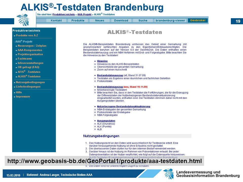 ALKIS®-Testdaten Brandenburg