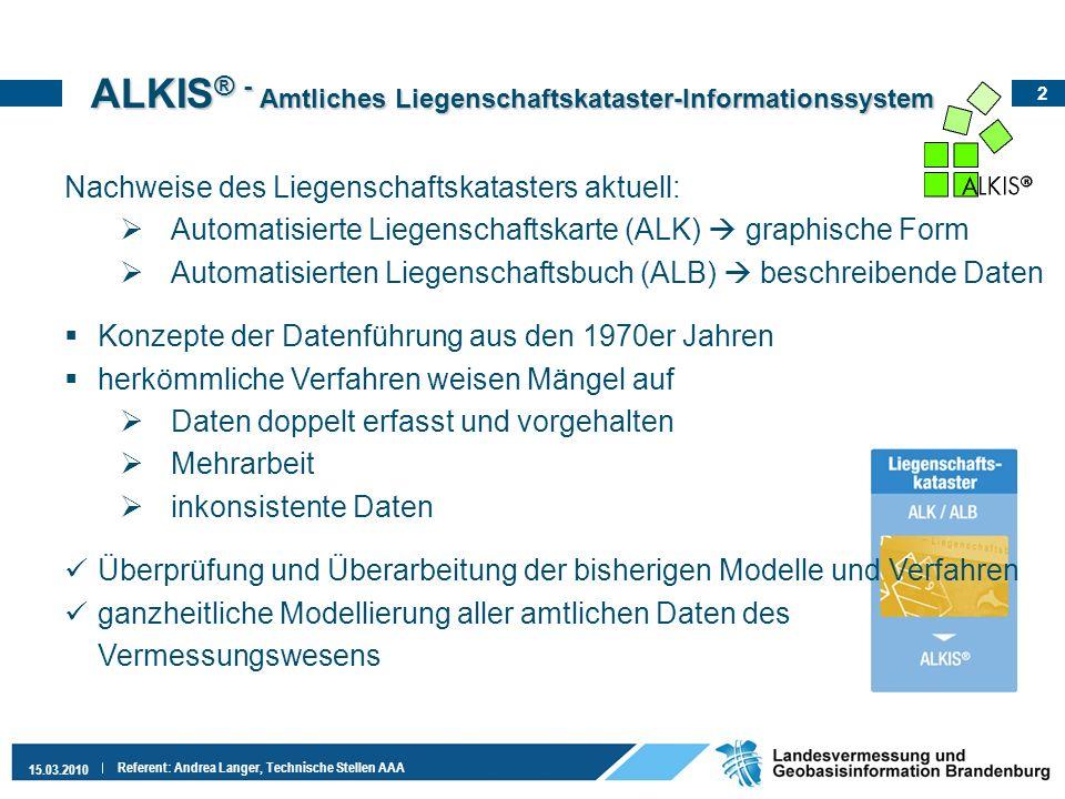 ALKIS® - Amtliches Liegenschaftskataster-Informationssystem