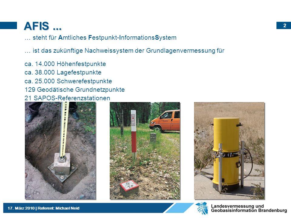 AFIS ... … steht für Amtliches Festpunkt-InformationsSystem