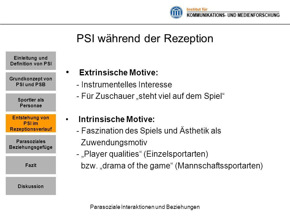 PSI während der Rezeption