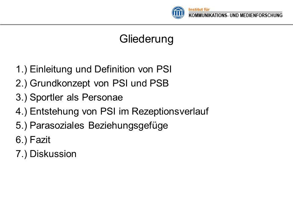 Gliederung 1.) Einleitung und Definition von PSI