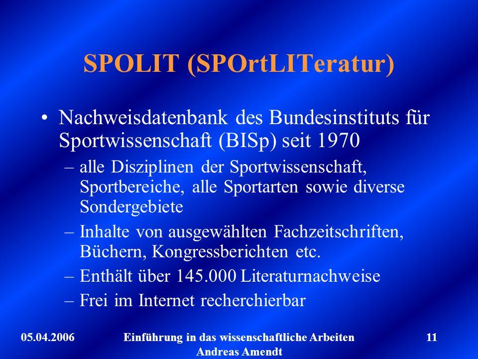 SPOLIT (SPOrtLITeratur)