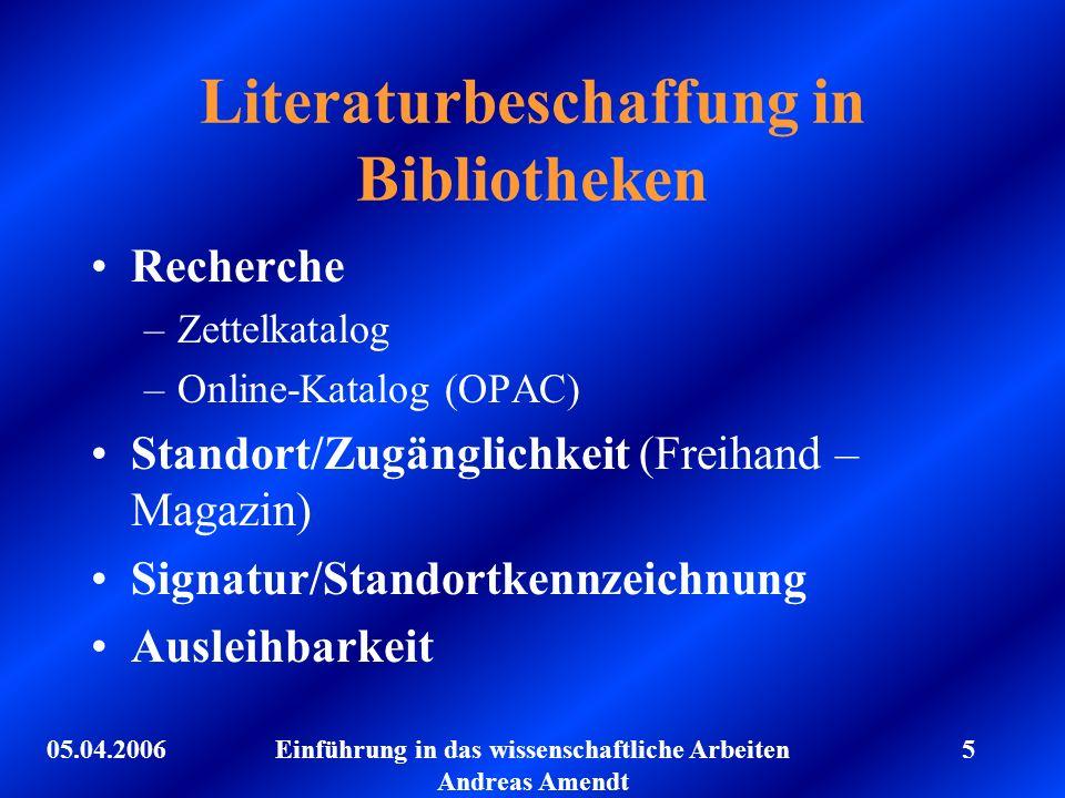 Literaturbeschaffung in Bibliotheken