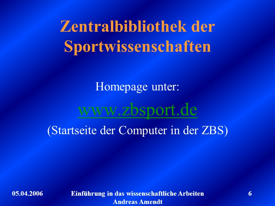 Zentralbibliothek der Sportwissenschaften